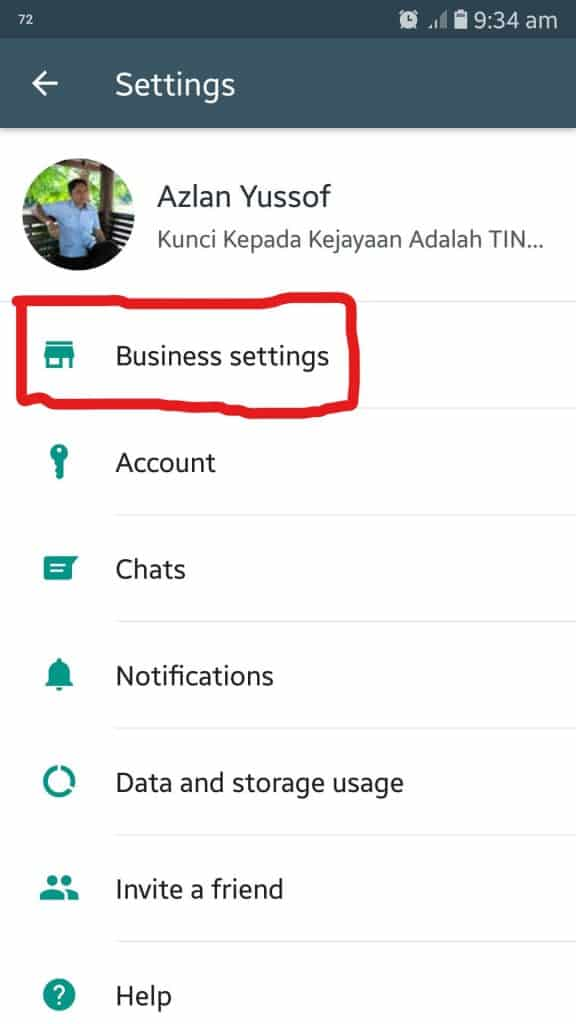 cara buat link whatsapp di setting
